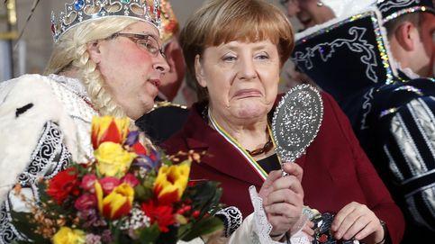 Merkel recibe a integrantes del carnaval de Hamburgo