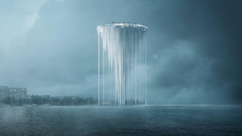Su peculiar forma hace que parezca que está flotando. (Sou Fujimoto Architects)