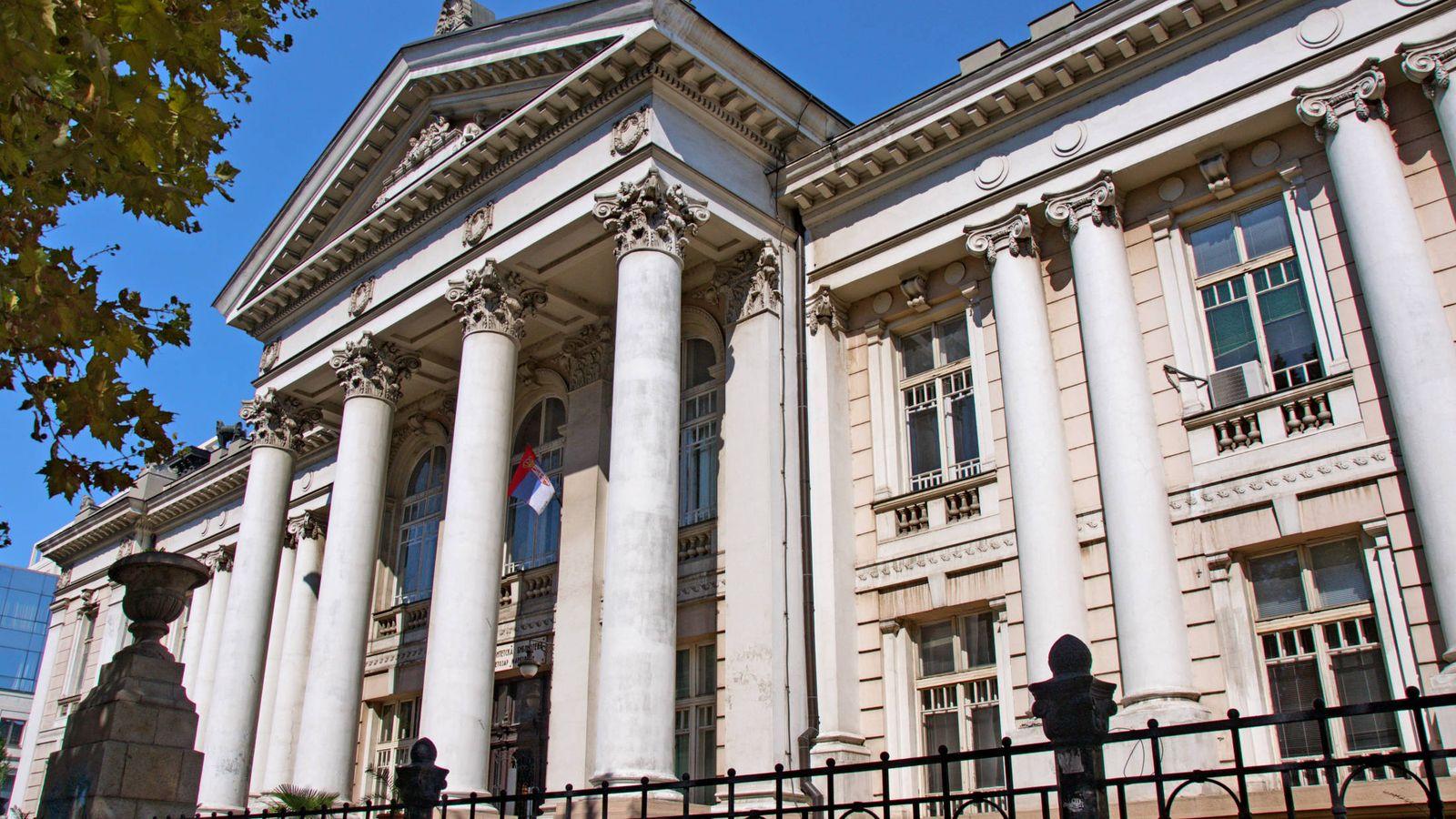 Foto: Biblioteca de la Universidad de Belgrado. (CC/Zoran Cvetkovic)