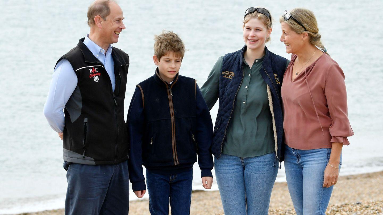 Los Wessex, con sus dos hijos. (Reuters)