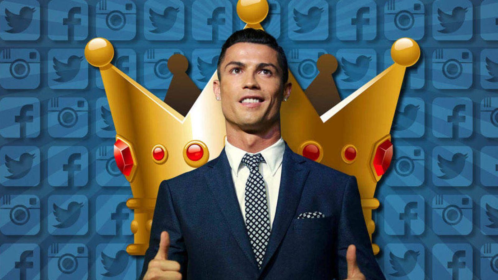 Foto: Cristiano Ronaldo en un fotomontaje realizado en Vanitatis.