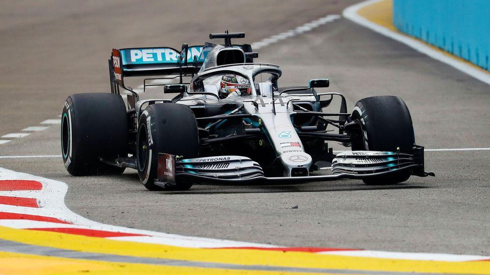 Foto: Lewis Hamilton durante los entrenamientos libres en Singapur. (Reuters)