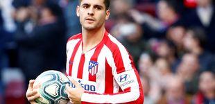Post de Morata está alterado: Simeone tampoco le considera el 'nueve' del Atleti