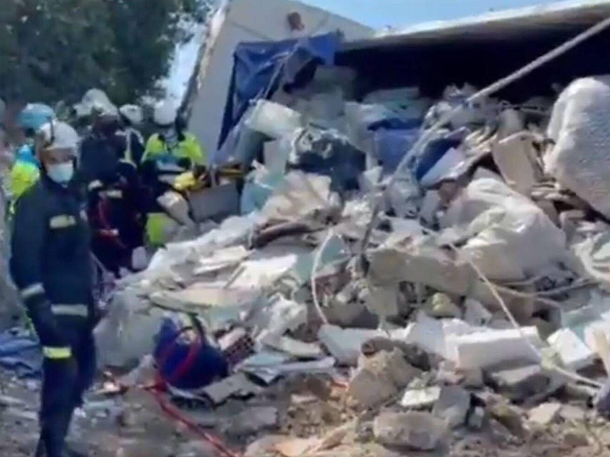 Foto: Lograron rescatar a la victima tras cinco horas de minuciosos trabajos. (112 Madrid)