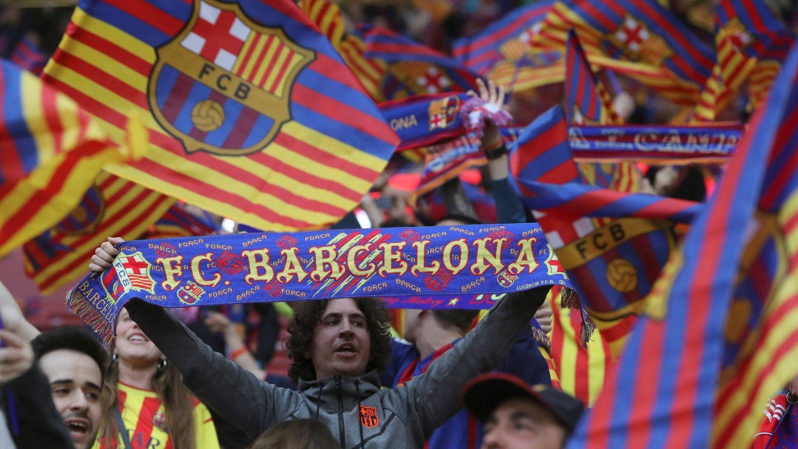 Foto: Aficionados del FC Barcelona - Archivo. (EFE)