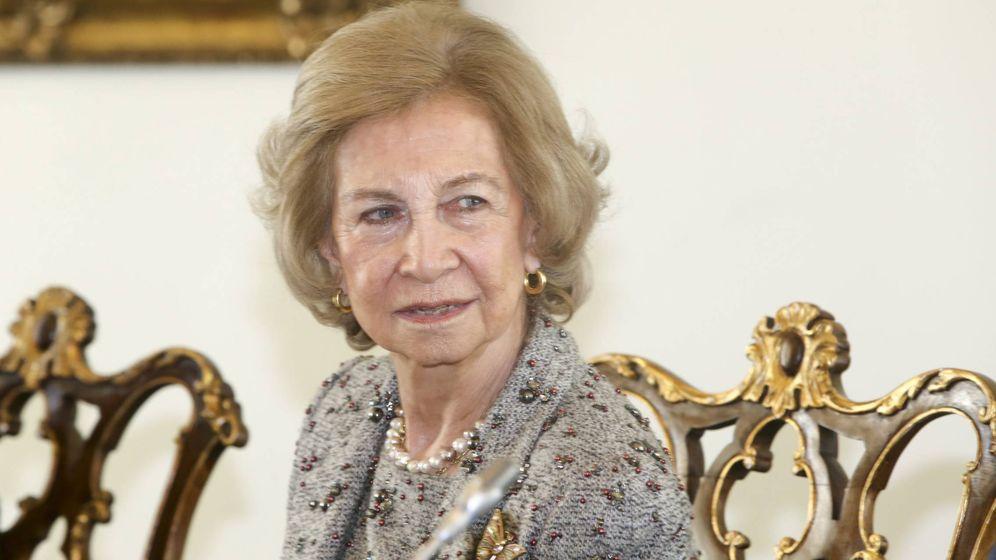 Foto:  La reina Sofía, en Lisboa. (Cordon Press)