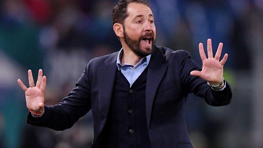 Foto: Pablo Machín, en la ida contra el Lazio. (Reuters)