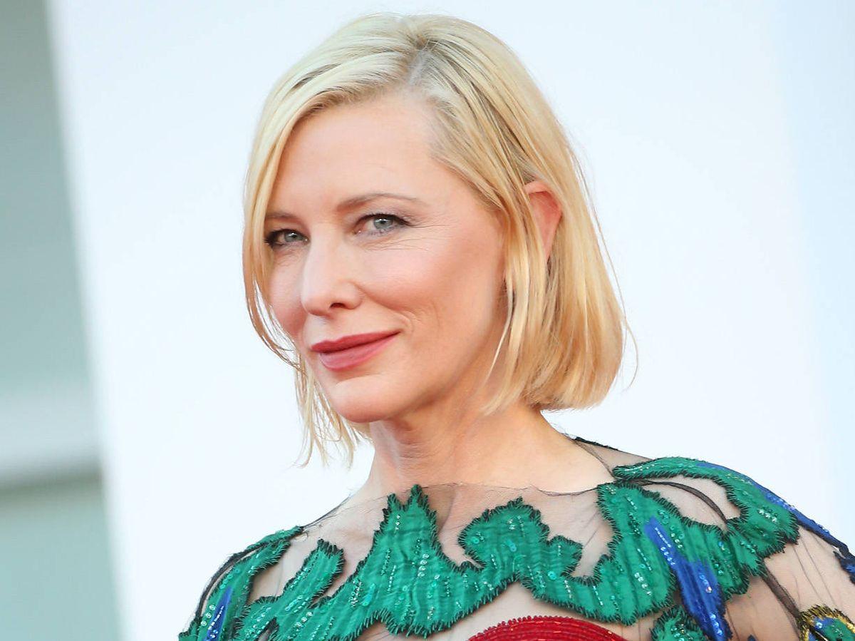 Foto: Cate Blanchett, en el Festival de Cine de Venecia con una piel ultrahidratada y muy luminosa. (Getty)