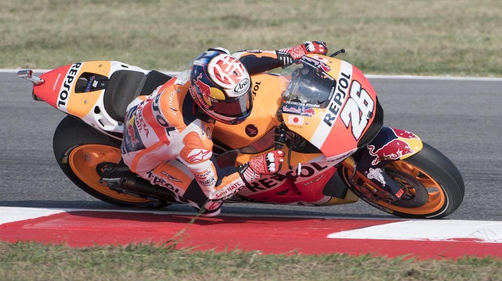 Foto: Pedrosa, en el GP de San Marino (Maurizio Brambatti/EFE/EPA).