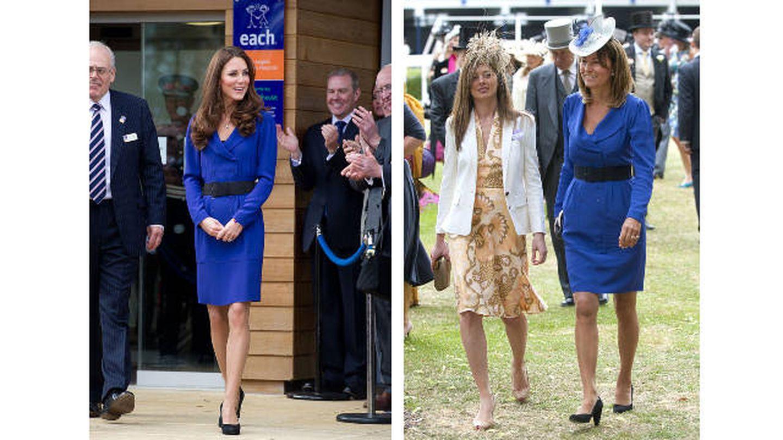 A un lado, Kate en 2012; al otro, su madre en 2010. (Getty)