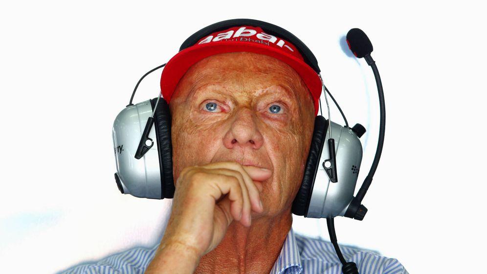 Foto:  Niki Lauda, durante un GP de F1. (Getty)