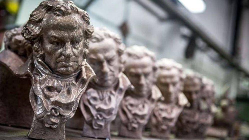 Foto: Estatuillas que se entregan en los premios Goya. (EFE)