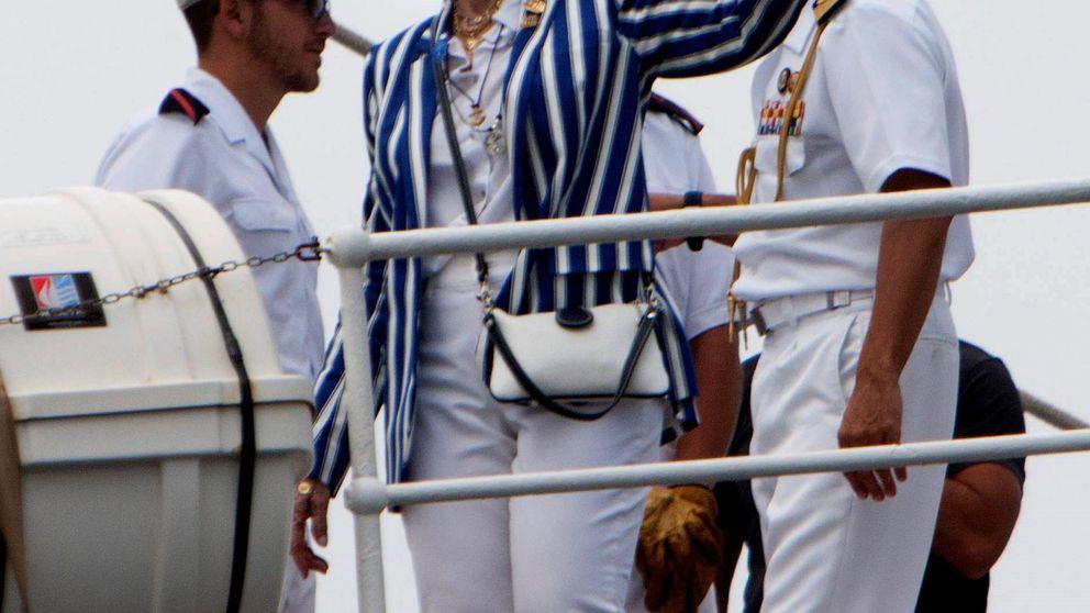 La reina Sofía, incondicional del rey Juan Carlos por primera vez en Sanxenxo