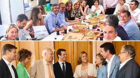 Pizza o asador: las últimas comidas de Santamaría y Casado antes del congreso