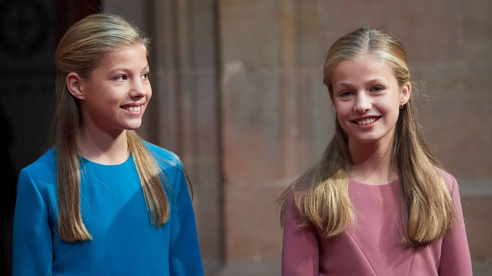 Foto: La infanta Sofía y la princesa Leonor, en una imagen de archivo. (LP)