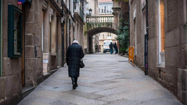 Una calle del centro de Ourense.
