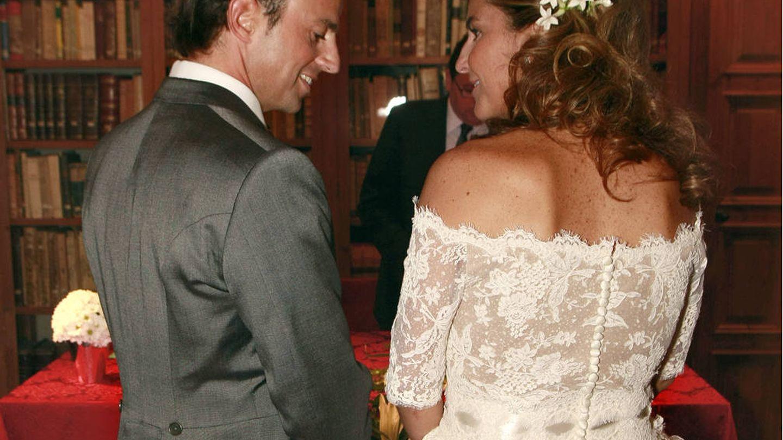 Arantxa Sánchez Vicario y Josep Santacana el día de su boda.