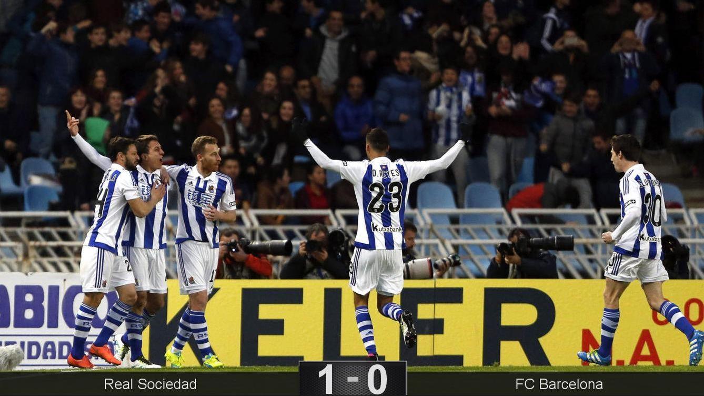 Foto: Oyarzabal marcó el gol de la Real (EFE)