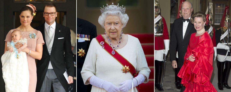 Foto: La princesa Victoria junto a su familia, la reina Isabel y los reyes de Noruega (Gtres)