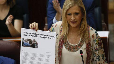 Rajoy vende sus logros económicos en la presentación de Cifuentes