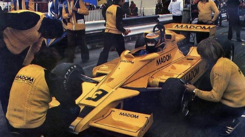 De Villota, con el Lotus 78, en el campeonato Aurora F1, en 1979