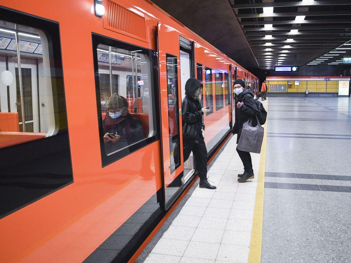 Foto: El Metro de Helsinki. (EFE)