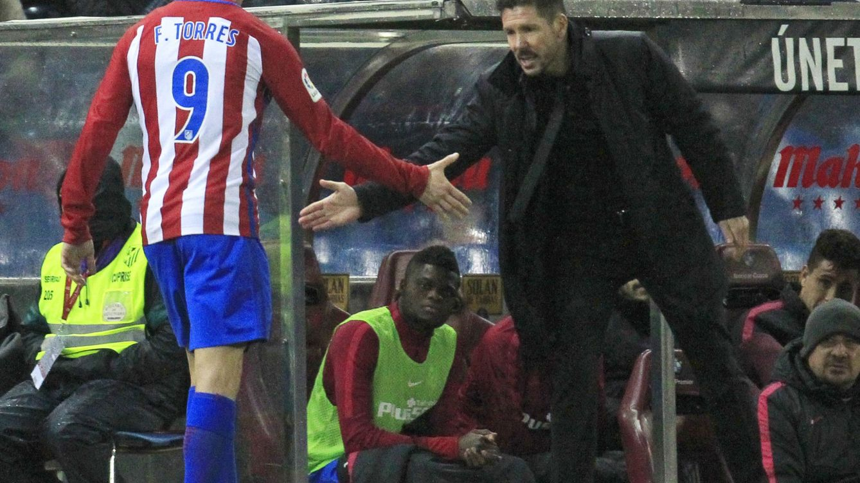 Simeone: No tengo nada en contra de Fernando Torres