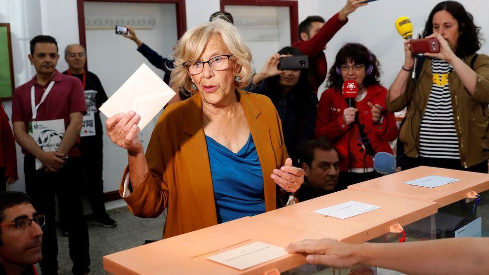 Carmena ganaría en Madrid y podría gobernar con el apoyo del PSOE