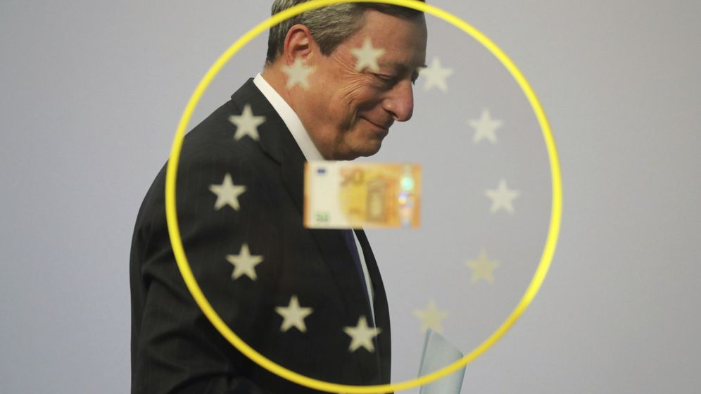 Foto: El presidente del Banco Central Europeo (ECB), Mario Draghi, durante la presentación del nuevo billete de 50 euros. (EFE)