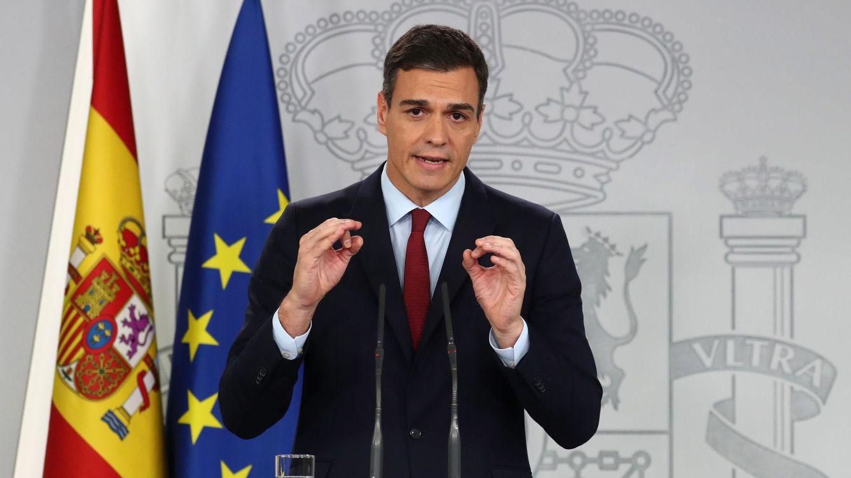 Foto: Pedro Sánchez durante su comparecencia de este sábado. (EFE)