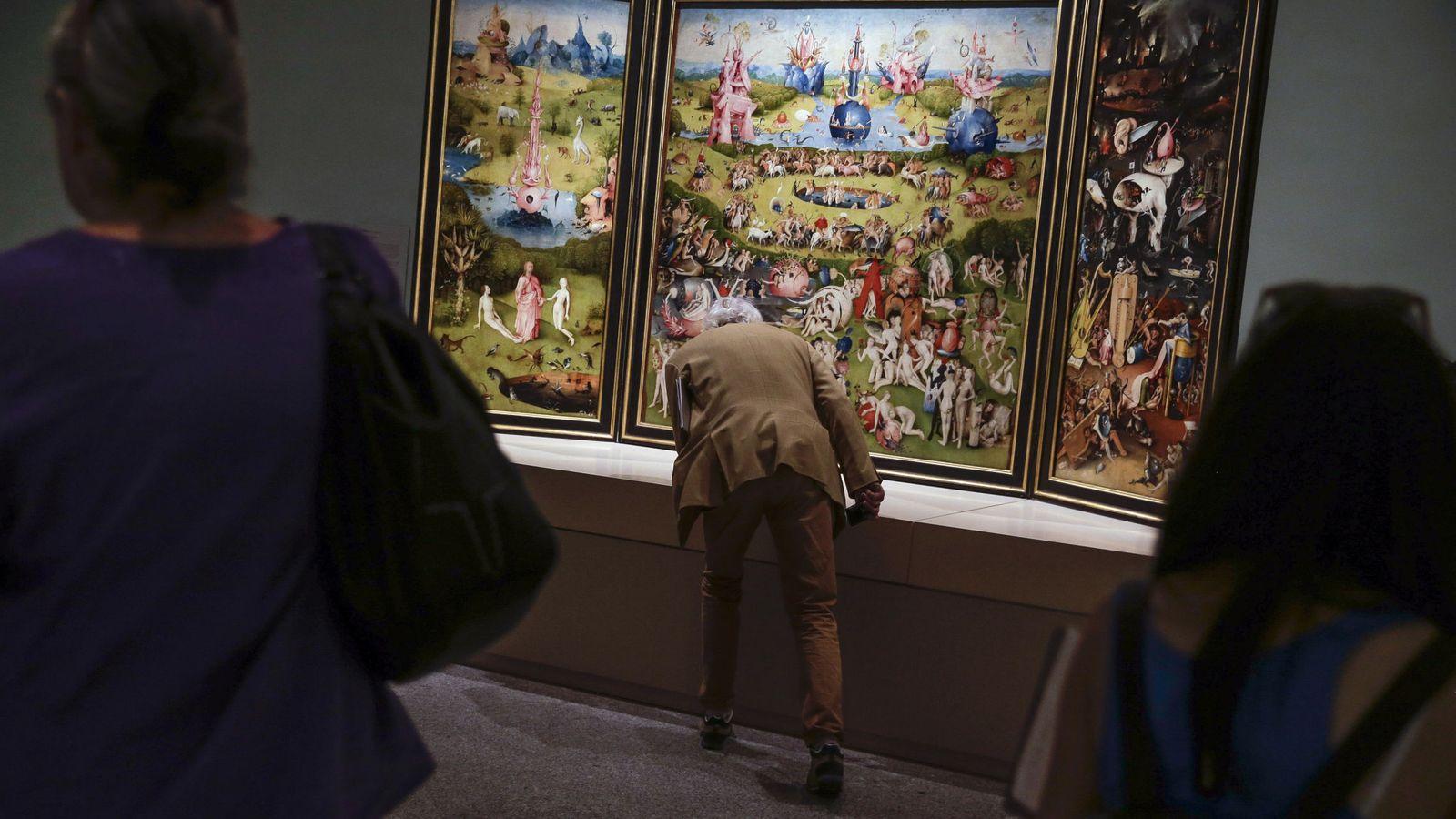 Foto: Presentación de la sala de El Bosco en el Prado (EFE)