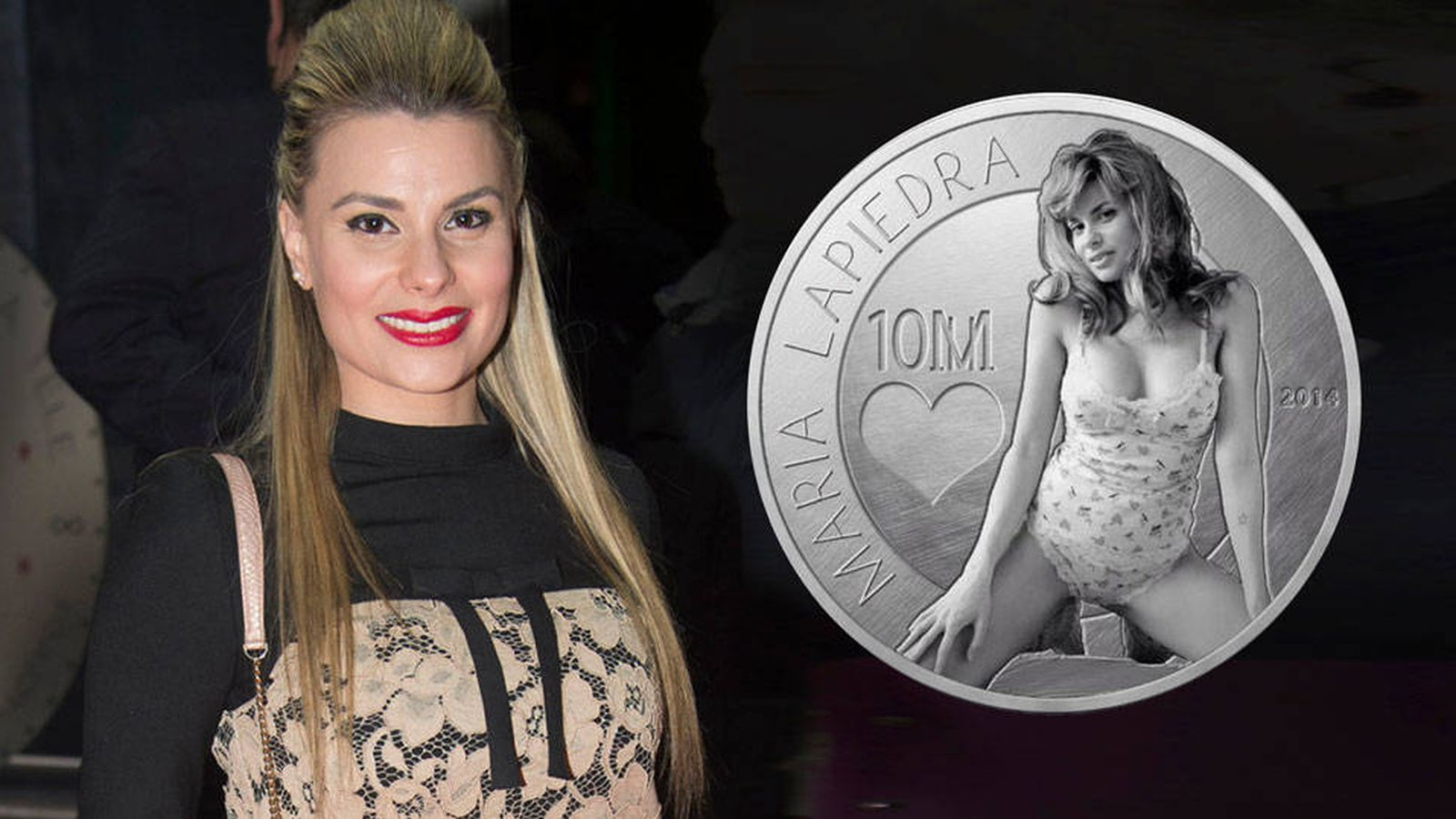 Foto: María Lapiedra y su moneda en un fotomontaje de 'Vanitatis'