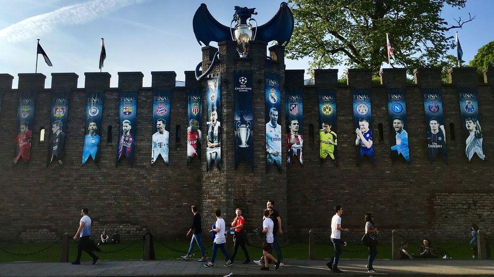 Foto: Cardiff, preparada para el encuentro (EFE)