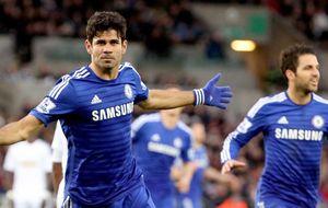 El Chelsea mete presión al City con una 'manita' al Swansea City