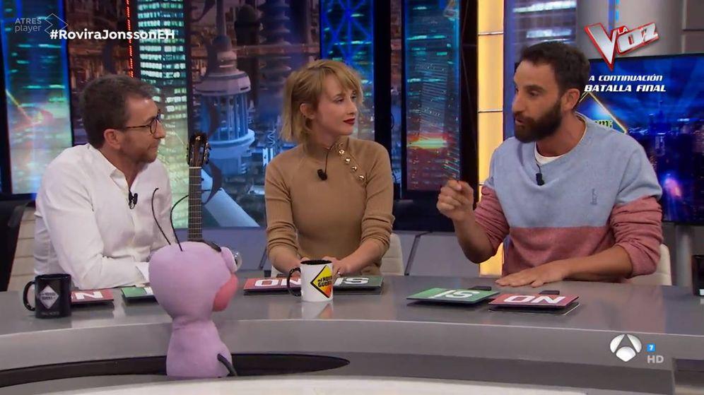 Foto: Dani Rovira e Ingrid García-Jonsson en El Hormiguero. (Antena 3)
