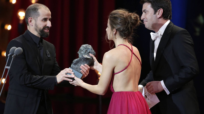 Arturo Valls e Irene Escolar en los Goya 2018. (Gtres)