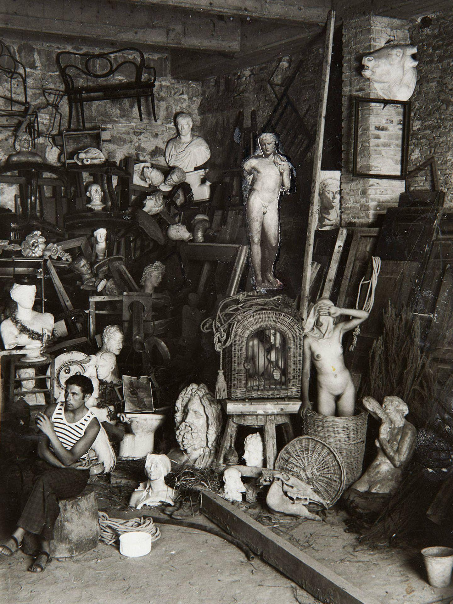 'Estudio del artista. Roma', Eduardo Chicharro y Gregorio Prieto, 1928-1932. Fundación Gregorio Prieto.