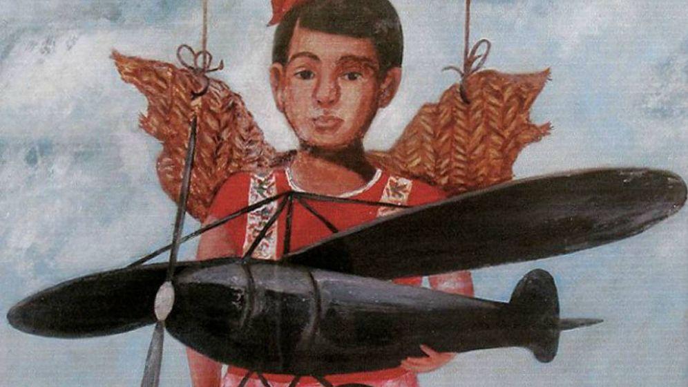 Foto: Detalle de 'Piden Aeroplanos y les dan alas de petate'. (Wikimedia Commons)