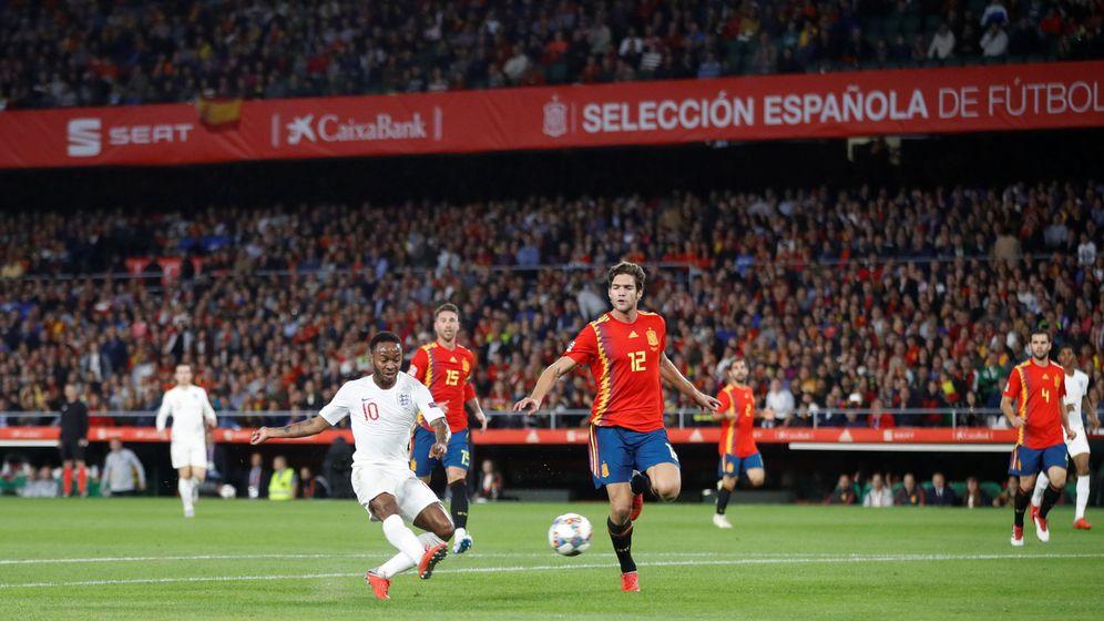 Foto: El tercer gol inglés.
