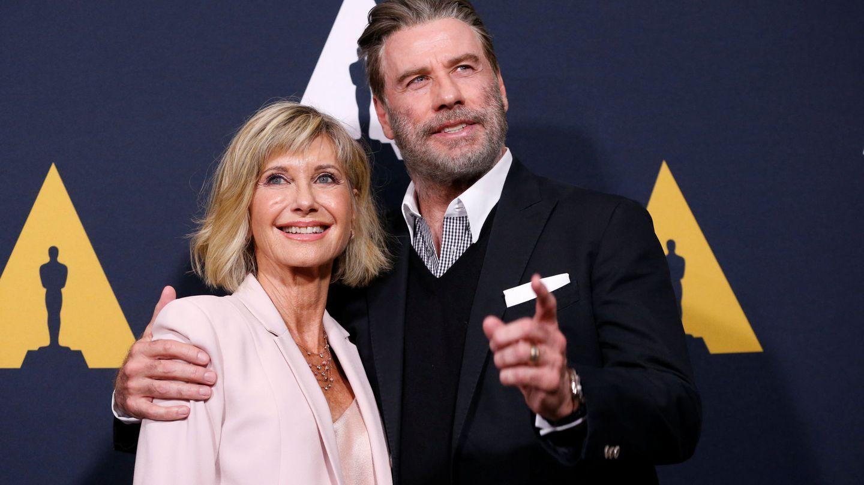 John Travolta y Olivia Newton-John juntos el pasado mes de agosto.(REUTERS)
