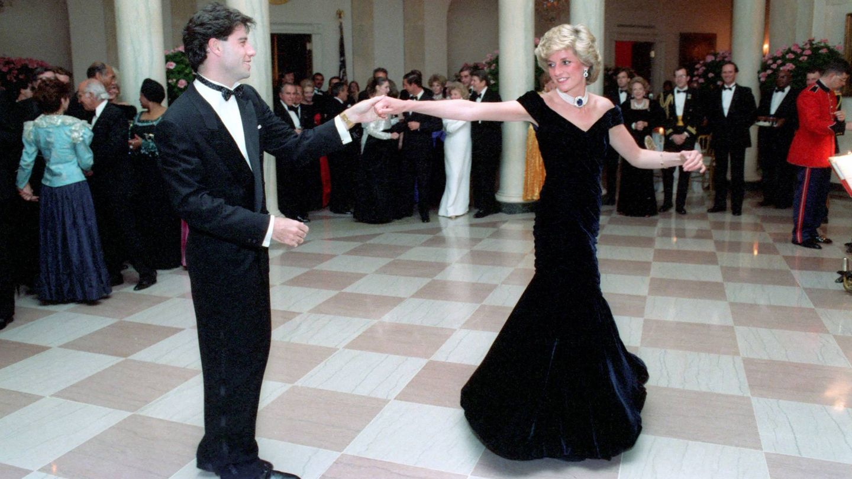 Travolta y Lady Di, en la Casa Blanca. (Cordon Press)