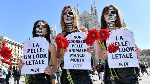 Protestas en contra de la Semana de la Moda de Milán