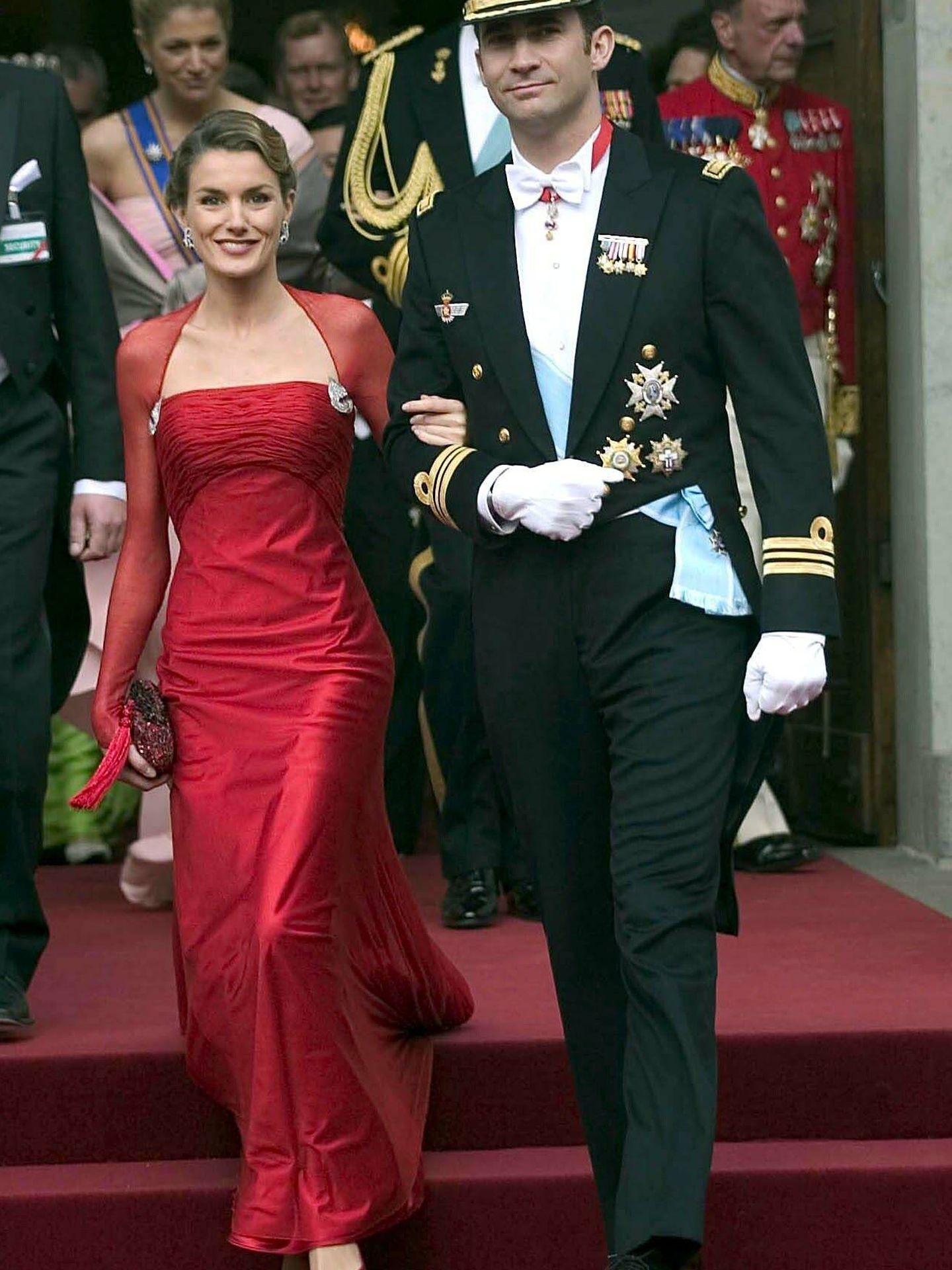 Los hoy Reyes, en la boda de Federico y Mary Donaldson. (Cordon Press)