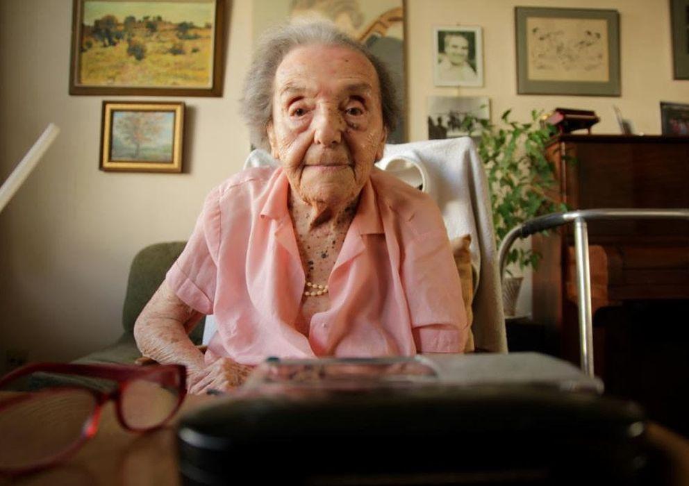 Foto: Alice Herz-Sommer durante el rodaje del documental