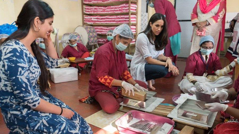 Meghan Markle en la India. (www.royal.uk)