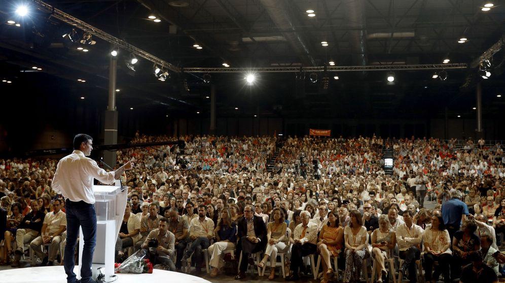 Foto: Pedro Sánchez, el pasado 18 de junio, durante la clausura del 39º Congreso del PSOE que aprobó la España plurinacional. (EFE)