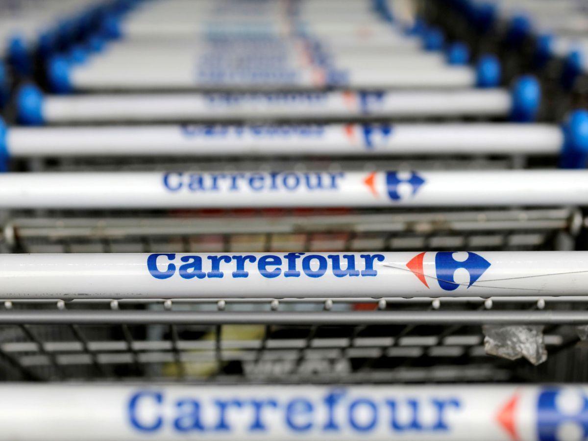 Foto: El logo de Carrefour. (Reuters)