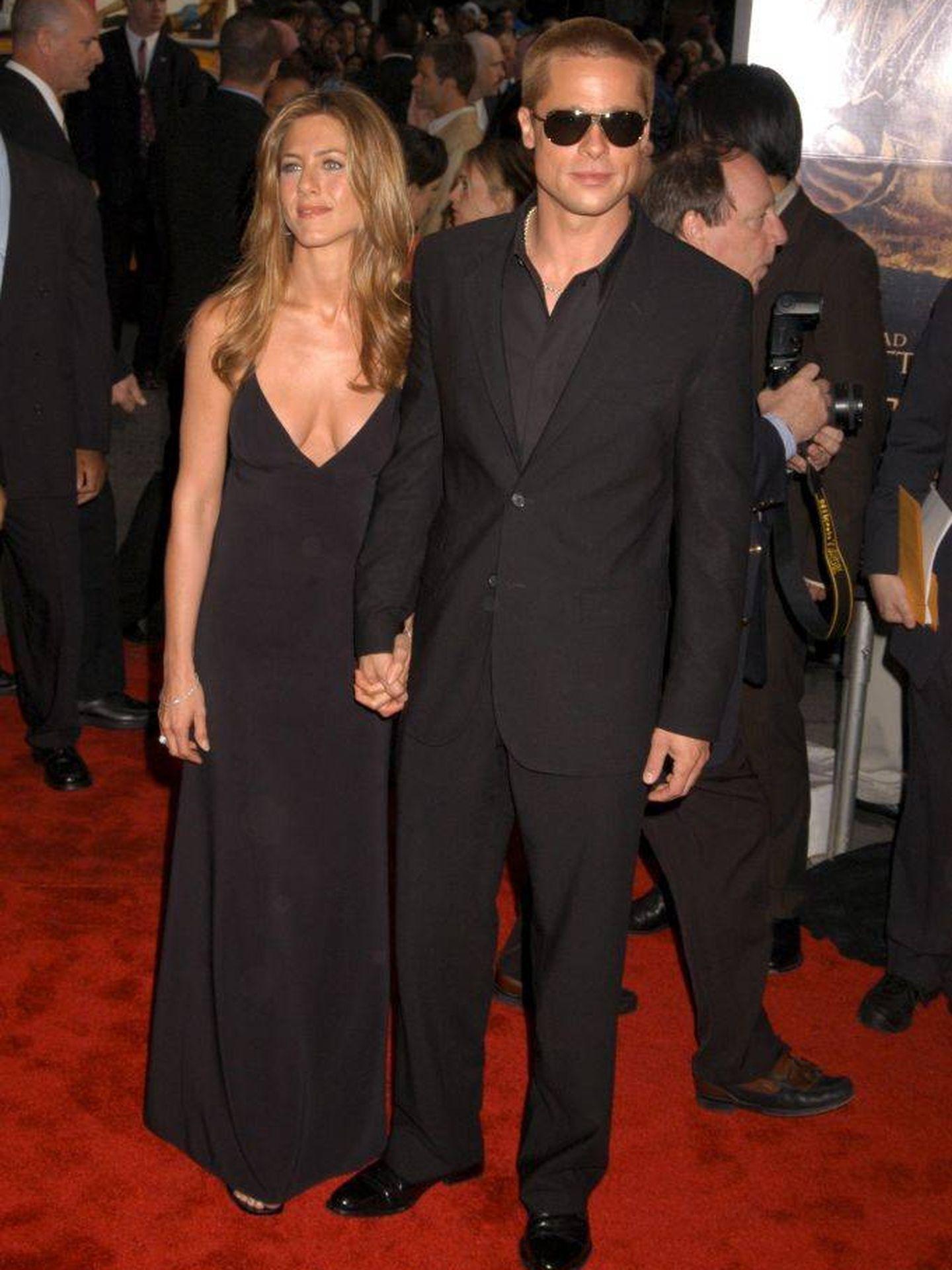 Brad Pitt y Jennifer Aniston, en 2004.  (Getty)