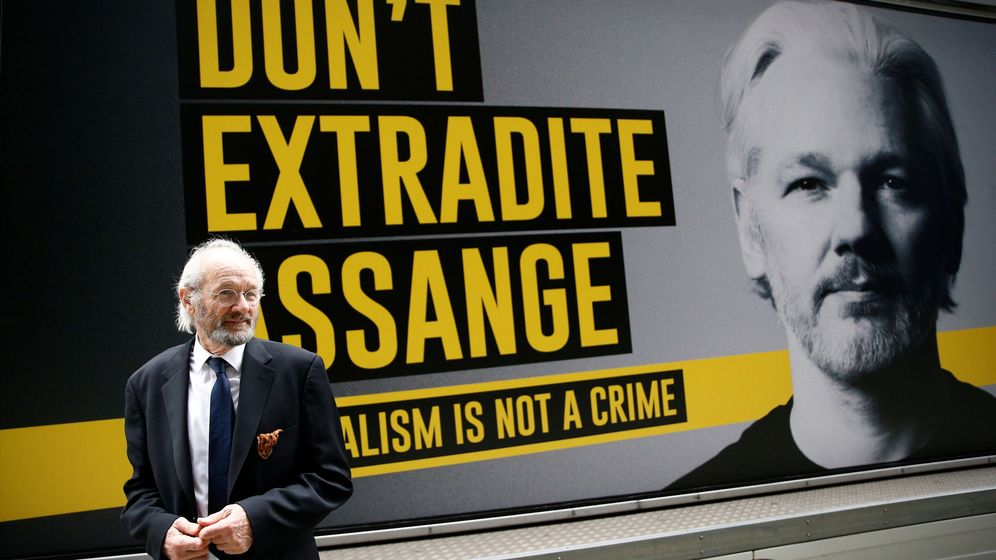 Foto: El padre de Julian Assange, John Shipton. (Reuters)