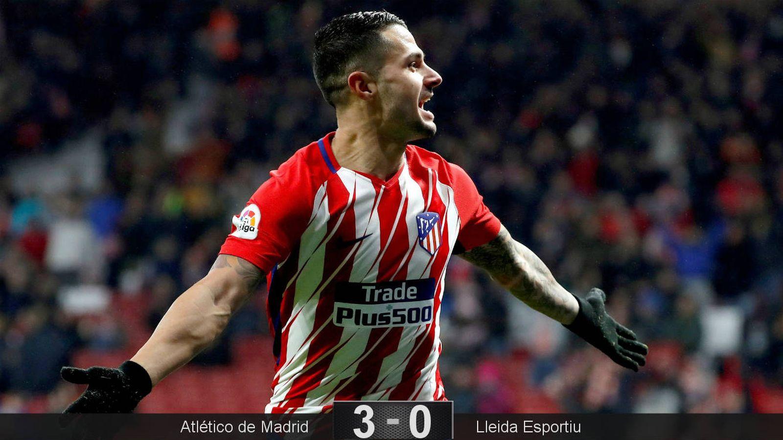 Foto: Primer gol de Vitolo en su segundo partido con el Atlético. (EFE)